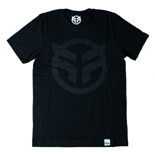 Federal Logo T-Shirt - Black With Black Print Medium